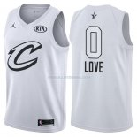 Maillot All Star 2018 Cleveland Cavaliers Kevin Love 0 Blanc