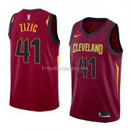 Maillot Cleveland Cavaliers Ante Zizic Icon 2018 Rouge