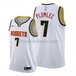 Maillot Denver Nuggets Mason Plumlee Association 2019-20 Blanc