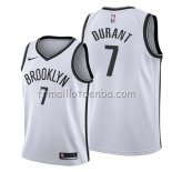Maillot Enfant Brooklyn Nets Kevin Durant Association 2019 Blanc