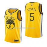 Maillot Golden State Warriors Kevon Looney Earned 2018-19 Jaune
