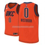 Maillot Oklahoma City Thunder Russell Westbrook Earned 2018-19 Orange