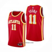 Maillot Atlanta Hawks Trae Young Icon 2020-21 Rouge