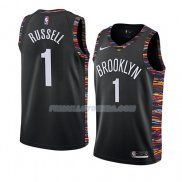 Maillot Brooklyn Nets D'angelo Russell Ciudad 2018-19 Noir