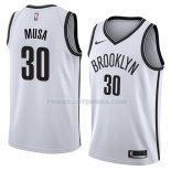Maillot Brooklyn Nets Dzanan Musa Association 2018 Blanc Blanc