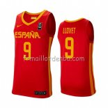 Maillot Espagne Nacho Llovet 2019 FIBA Baketball World Cup Rouge