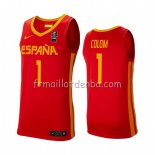 Maillot Espagne Quino Colom 2019 FIBA Baketball World Cup Rouge 0a