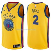 Maillot Golden State Warriors Jordan Bell Chinese Heritage Ciudad 2017-18 2 Oroo