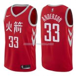 Maillot Houston Rockets Ryan Anderson Ciudad 2017-18 33 Rojo