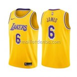 Maillot Los Angeles Lakers Lebron James Icon 2019 Jaune
