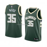 Maillot Milwaukee Bucks Christian Wood Icon 2018 Vert
