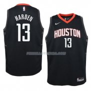 Maillot Enfant Houston Rockets James Harden Statement 13 2017-18 Noir