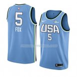Maillot 2019 Rising Star De'aaron Fox USA Bleu
