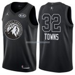 Maillot All Star 2018 Minnesota Timberwolves Karl-anthony Towns 32 Noir