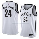 Maillot Brooklyn Nets Hollis Jefferson Association 2018 Blanc Blanc