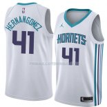 Maillot Charlotte Hornets Willy Hernangomez Association 2018 Blanc
