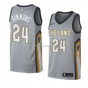 Maillot Cleveland Cavaliers Kobi Simmons Ville 2018 Gris