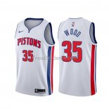 Maillot Detroit Pistons Christian Wood Association Blanc