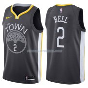 Maillot Golden State Warriors Jordan Bell The Town Statehombret 2017-18 2 Negro
