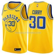 Maillot Golden State Warriors Stephen Curry Hardwood Classic 2018 Jaune