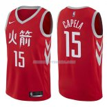 Maillot Houston Rockets Clint Capela Ciudad 2017-18 15 Rojo