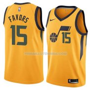 Maillot Utah Jazz Derrick Favors Statement 2018 Jaune