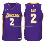 Maillot Basket Enfant Los Angeles Lakers Lonzo Ball Statement 2017-18 2 Volet