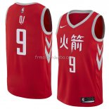 Maillot Houston Rockets Zhou Qi Ville 2018 Rouge
