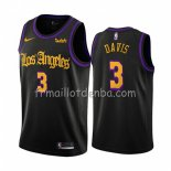 Maillot Los Angeles Lakers Anthony Davis Ville 2019-20 Noir