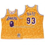 Maillot Los Angeles Lakers Bape Mitchell & Ness Jaune