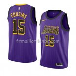 Maillot Los Angeles Lakers Demarcus Cousins Ciudad 2019-20 Volet