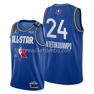 Maillot All Star 2020 Milwaukee Bucks Giannis Antetokounmpo Bleu
