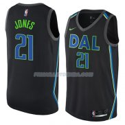 Maillot Dallas Mavericks Jalen Jones Ciudad 2018 Noir