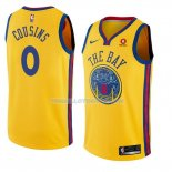 Maillot Golden State Warriors Demarcus Cousins Ciudad 0 2018-19 Jaune