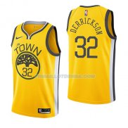 Maillot Golden State Warriors Marcus Derrickson Earned 2018-19 Jaune