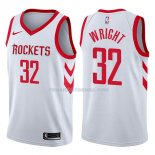 Maillot Houston Rockets Brandan Wright Association 2017-18 32 Blancoo