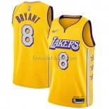 Maillot Los Angeles Lakers Kobe Bryant Ville Edition Jaune