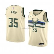 Maillot Milwaukee Bucks Christian Wood Ville 2018 Crema