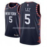 Maillot New York Knicks Courtney Lee Ciudad 2018-19 Bleu Bleu