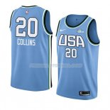 Maillot 2019 Rising Star John Collins USA Bleu