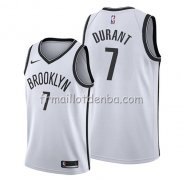 Maillot Brooklyn Nets Kevin Durant Association 2019 Blanc