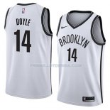Maillot Brooklyn Nets Milton Doyle Association 2018 Blanc Blanc