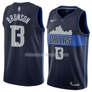 Maillot Dallas Mavericks Jalen Brunson Statement 2018 Bleu
