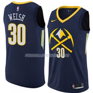Maillot Denver Nuggets Thomas Welsh Ciudad 2018 Bleu
