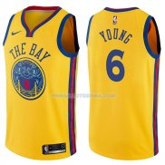 Maillot Golden State Warriors Nick Young Chinese Heritage Ciudad 2017-18 6 Oroo