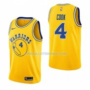 Maillot Golden State Warriors Quinn Cook Hardwood Classic 2018-19 Jaune