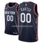 Maillot New York Knicks Enes Kanter Ciudad 2018-19 Bleu Bleu