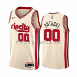 Maillot Portland Trail Blazers Carmelo Anthony Ville 2019-20 Cream