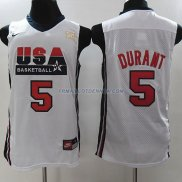 Maillot Basket USA Durant 5 Blanc 2012
