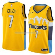 Maillot Denver Nuggets Trey Lyles Statement 2018 Jaune
